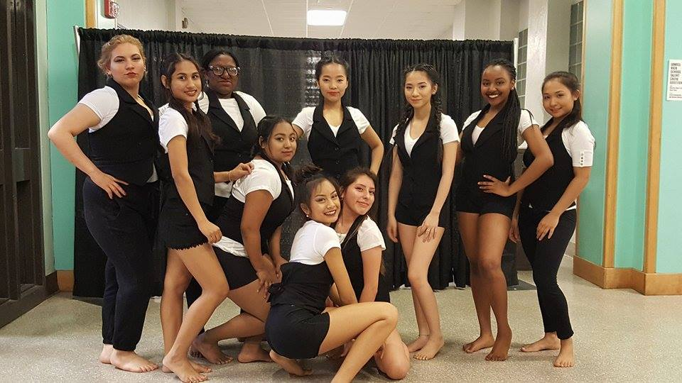Some+of+the+dancers+during+the+intermission+of+the+2017+Lowell+High+Spring+Dance+Concert+posed+for+pictures.
