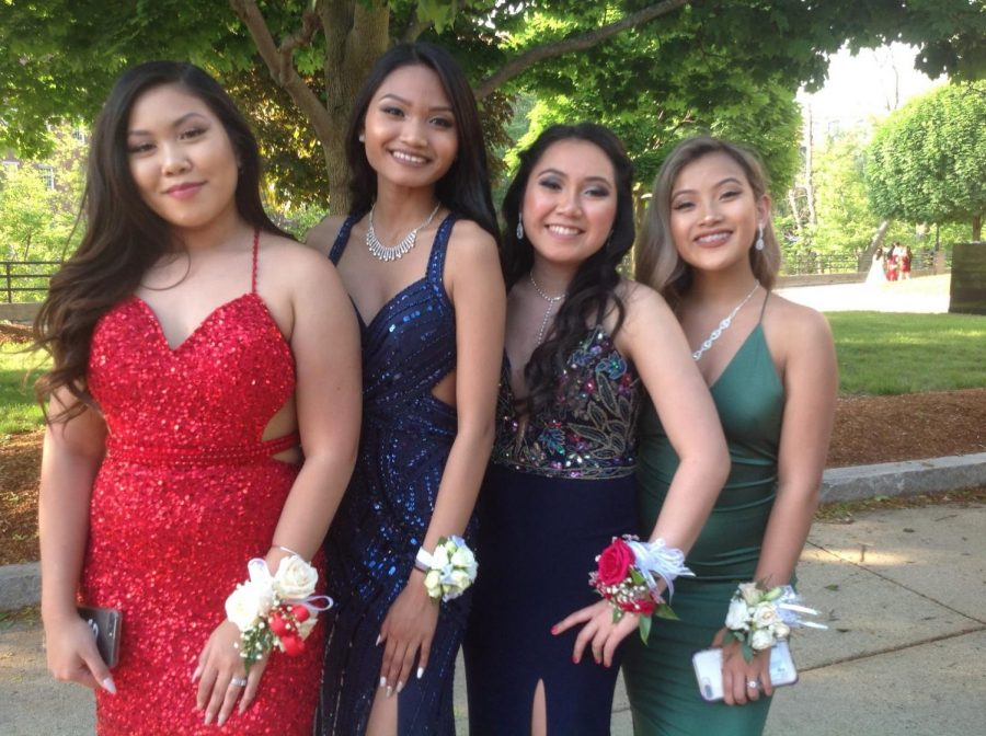 LHS seniors PROMenade on the red carpet at the Lowell Auditorium (5) Click & Scroll